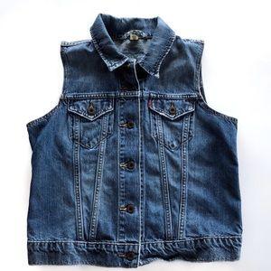 Levi's Classic Vintage Denim Collared Vest